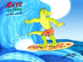 Rayz surfing on the waves by SAGADreams