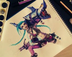 League of Legends: Jinx by Kytru