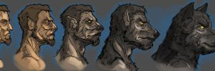 Werewolf transformation by Andy-Butnariu