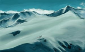 The Misty Mountains - Speed Paint2 by MyWorld1