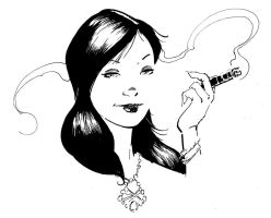 Girl with Cigar by aminamat