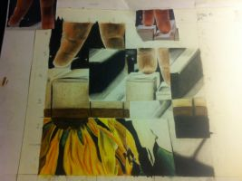 Colored Pencil Project for Art Class Almost done! by LittleKidd