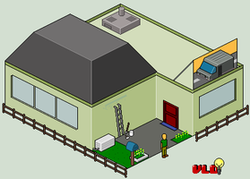 Isometric House by Gridysgood