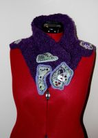 Neck warmer in purple by kalliaxa