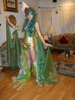 Rydia cosplay progress front by Ms-Catastrophie
