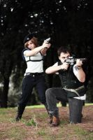 Chris and Jill cosplay RE1 by HeavenAndSky