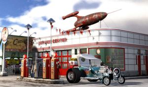 1950's Gas Station by 3djock