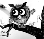 #163 Hoothoot by Guilll