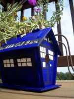 TARDIS Birdhouse by Captain-McWhitey