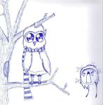 The Owl Stole my Scarf by polkadotlover123
