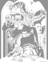 Universal Monsters 2013 Sketch by DadaHyena