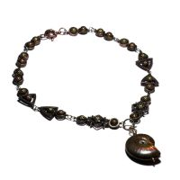 Steampunk fossil necklace by CatherinetteRings