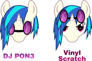 My answer to Vinyl Scratch vs. DJ Pon3 by SDC2012