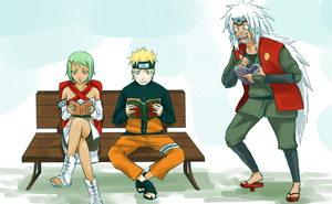 Request : Naruto Jiraya and Fu by iMii-s
