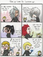 Pick up Lines for Larxene pg 1 by The-Hikari-Within