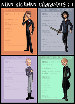 Alan Rickman Characters : 1 by ArcanePrayer