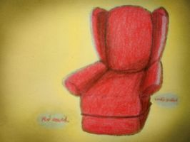 Red Couch by whaats