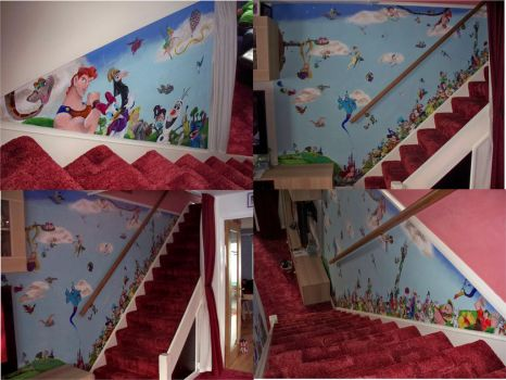 Disney Stairs Mural Project by billywallwork525