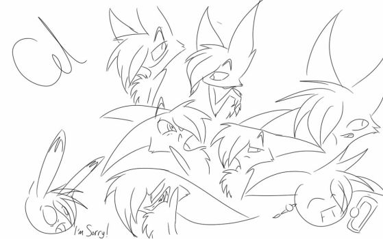 Laynor Emotions .:Lineart:. by Bendarksilver