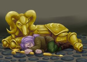 Asleep on the job by shoy