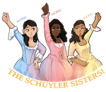 The Schuyler Sisters! by danighost