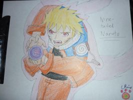 nine-tailed naruto rasengan by narupikalover