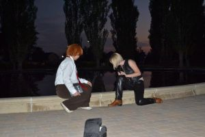 Death Note: Light and Mello, at the Fountain by Tegan-Sebastian