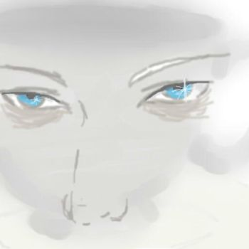 Vektor's eyes in a tea cup doodle by Anna-Risirthid