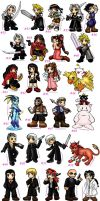 117 chibies...ff7 group by belafantasy