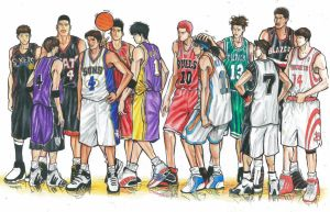 NBA All Stars by BombAsoldier