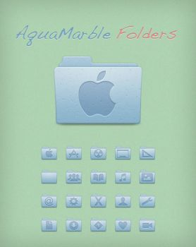 AquaMarble Folders by Lukeedee