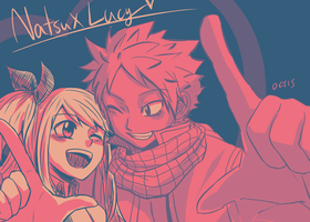 Natsu x Lucy Color Palette Challenge! by OCTISquad