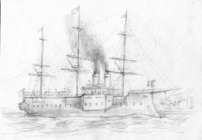 Casemate ironclad by JanBoruta