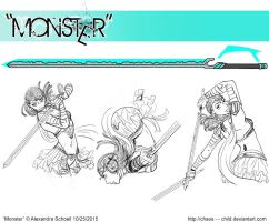 Month of ''Monster'' - Day 25 - Zahara's Weapon by Chaos--Child