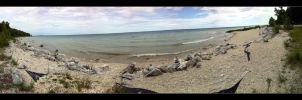 Mackinac Island Rock Beach by Grumbles106