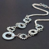 Found Object Hardware Jewelry by Tanith-Rohe
