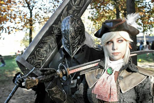 Bloodborne: Lady Maria and the hunter by MartinaNSC