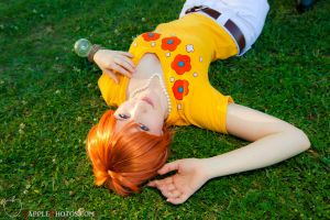 Nami in the Grass by silvver