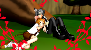 Tom and Jerry MMD by KingdomHeartsNickey