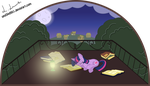 Twilight Sparkle sleeping on her balcony by und34d951