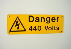 Danger 440 Volts by StooStock