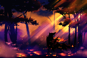 Okami - Evening Lights by EvilQueenie