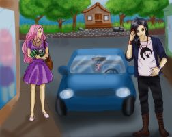 Two Strangers In The Street - Sakura x Sasuke by karorufanqueen