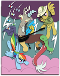 Commission: Discord Showdown Shadowbox Mock-up by The-Paper-Pony