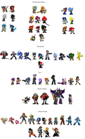 DS Character List by GlaviusSoul