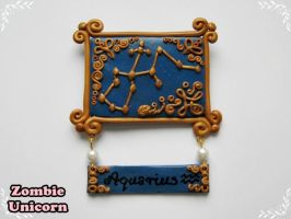 Aquarius constellation brooch by Galadriel89