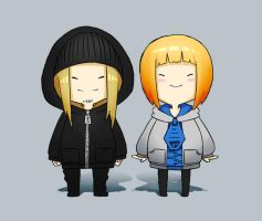 Chuu and Bag chibis by ChuuStar