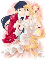 Seiya and Usagi by Pillara