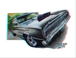 66 Dodge Charger Anaglyph by Geosammy