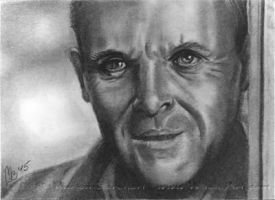 #75 Anthony Hopkins by WitchiArt